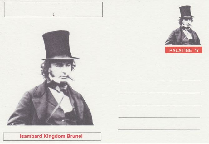 Palatine (Fantasy) Personalities - Isambard Kingdom Brunel postal stationery card unused and fine