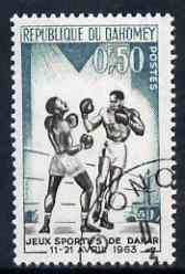 Dahomey 1963 Boxing 50c from Dakar Games set fine used, SG 185