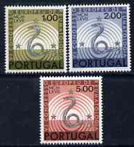 Portugal 1967 Rheumatological Congress perf set of 3 unmounted mint, SG 1326-28