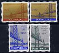 Portugal 1966 Inauguration of Salazar Bridge perf set of 4 unmounted mint, SG 1294-97