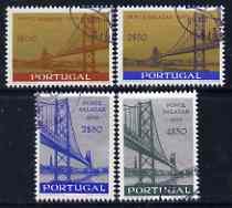 Portugal 1966 Inauguration of Salazar Bridge perf set of 4 fine cds used, SG 1294-97