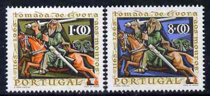 Portugal 1966 Reconquest of Evora perf set of 2 unmounted mint, SG 1292-93