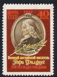 Russia 1957 Birth Anniversary of Henry Fielding (novelist) unmounted mint, SG 2091