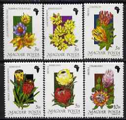 Hungary 1990 African Flowers perf set of 6 unmounted mint, SG 3966-71