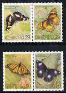 Micronesia 1993 Butterflies perf set of 4 (2 se-tenant pairs) unmounted mint, SG 333-36
