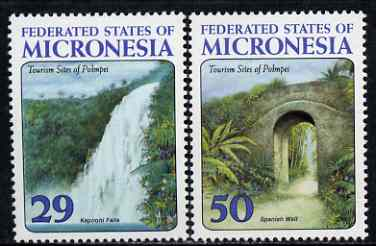 Micronesia 1993 Tourist Sites perf set of 2 unmounted mint, SG 330-31