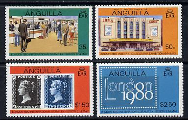 Anguilla 1980 'London 1980' set of 4 (SG 384-7A) unmounted mint