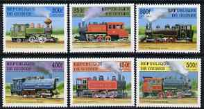 Guinea - Conakry 1997 Steam Locomotives complete perf set of 6 values unmounted mint, SG 1761-66