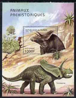 Guinea - Conakry 1997 Prehistoric Animals perf m/sheet unmounted mint