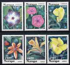 Nicaragua 1985 Flowers perf set of 6 unmounted mint, SG 2673-78