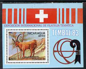 Nicaragua 1983 Tembal '83 Thematic Stamp Exhibiton perf m/sheret unmounted mint