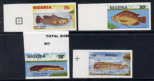 Nigeria 1991 Fishes set of 4 unmounted mint imperf as SG 612-15var