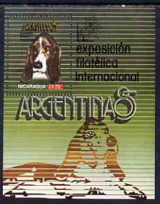 Nicaragua 1985 Argentina '85 Stamp Exhibiton (Dogs) perf m/sheret unmounted mint