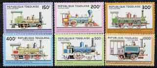 Togo 1996 Early Steam Locomotives perf set of 6 unmounted mint