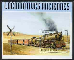 Togo 1999 Early Railways 1,000f m/sheet unmounted mint