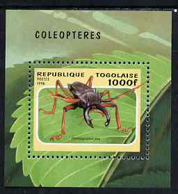 Togo 1996 Insects perf m/sheet unmounted mint