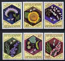 Bulgaria 1987 Flowers perf set of 6 cto used, SG 3448-53, Mi 3582-87