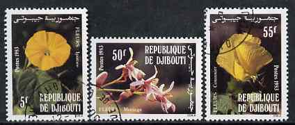 Djibouti 1983 Flowers perf set of 3 fine cto used, SG 878-80