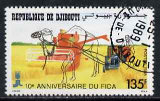 Djibouti 1988 International Agricultural Development Fund 135f fine cto used, SG 1025