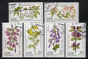 Germany - East 1981 Rare plants perf set of 6 fine cto used, SG E2288-93