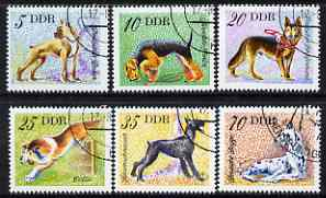 Germany - East 1976 Domestic Dogs perf set of 6 fine cto used, SG E1870-75