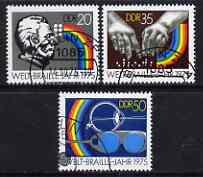 Germany - East 1975 International Braille Year perf set of 3 fine cto used, SG E1806-08