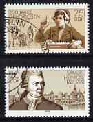 Germany - East 1978 Deaf & Dumb Education Institution perf set of 2 fine cto used, SG E2029-30