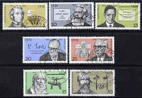 Germany - East 1978 Celebrities' Birth Anniversaries perf set of 7 fine cto used, SG E2051-57