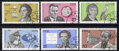 Germany - East 1980 Celebrities' Birth Anniversaries perf set of 6 fine cto used, SG E2214-19