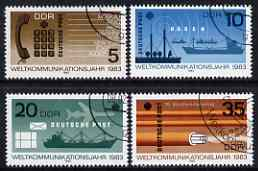 Germany - East 1983 World Communications Year perf set of 4 cto used, SG E2487-90