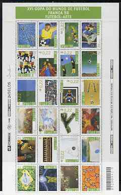 Brazil  1998 World Cup Football Art perf sheetlet containing complete set of 24 values unmounted mint, SG 2927a