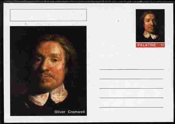 Palatine (Fantasy) Personalities - Oliver Cromwell postal stationery card unused and fine