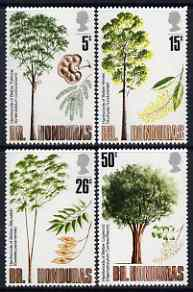 British Honduras 1971 Indigenous Hardwoods (3rd series) perf set of 4 unmounted mint , SG 315-18