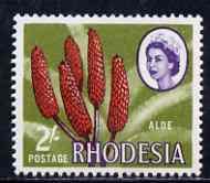Rhodesia 1966-69 Aloe 2s (litho printing) unmounted mint, SG 404