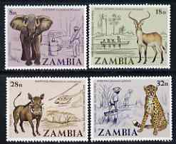 Zambia 1978 Anti-Poaching Campaign perf set of 4 unmounted mint, SG 275-78