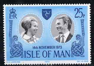 Isle of Man 1973 Royal Wedding 25p unmounted mint, SG 41
