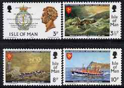 Isle of Man 1974 150th Anniversary of Royal National Lifeboat Institution perf set of 4 unmounted mint, SG 42-45
