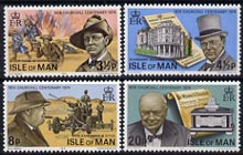 Isle of Man 1974 Churchill Centenary perf set of 4 unmounted mint, SG 54-57