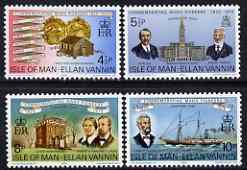 Isle of Man 1975 Manx Pioneers in Cleveland perf set of 4 unmounted mint, SG 59-62, stamps on americana, stamps on ships, stamps on settlers