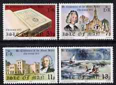 Isle of Man 1975 Christmas & Bicentenary of Manx Bible perf set of 4 unmounted mint, SG 71-74