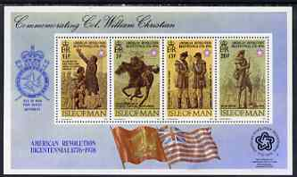 Isle of Man 1976 USA Bicentenary m/sheet unmounted mint, SG MS79