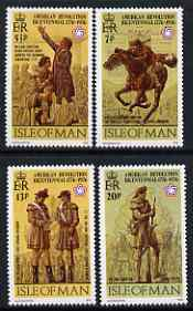 Isle of Man 1976 USA Bicentenary perf set of 4 unmounted mint, SG 75-78