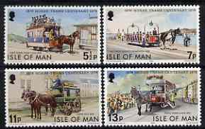Isle of Man 1976 Centenary of Douglas Horse Tramsperf set of 4 unmounted mint, SG 80-83