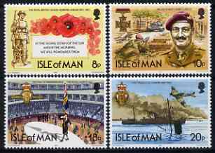 Isle of Man 1981 60th Anniversary of Royal British Legion perf set of 4 unmounted mint, SG 205-8
