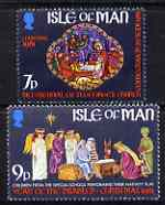 Isle of Man 1981 Christmas perf set of 2 unmounted mint, SG 209-10