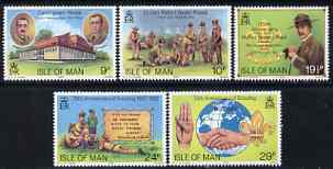 Isle of Man 1982 75th Anniversary of Scouting perf set of 5 unmounted mint, SG 211-15