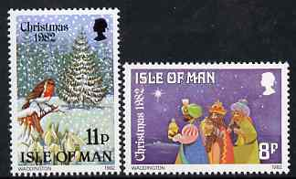 Isle of Man 1982 Christmas perf set of 2 unmounted mint, SG 225-26