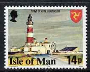 Isle of Man 1978-81 Point of Ayr Lighthouse 14p perf 14.5 (from def set) unmounted mint, SG 121B