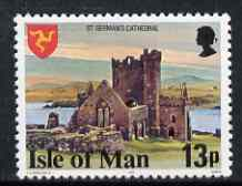Isle of Man 1978-81 St German's Cathedral 13p perf 14 (from def set) unmounted mint, SG 120