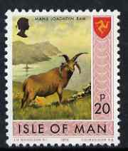 Isle of Man 1973-75 Manx Longhorn Ram 20p (from def set) unmounted mint, SG 31